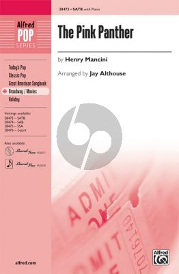 Mancini The Pink Panther SATB (transcr. Jay Althouse)
