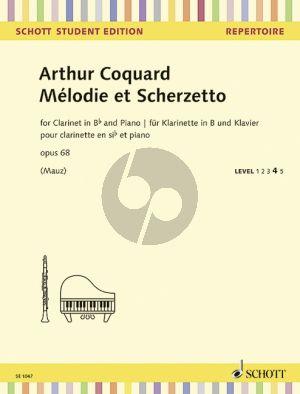 Coquard Melodie et Scherzo Op.68 Clarinet-Piano (Rudolf Mauz)