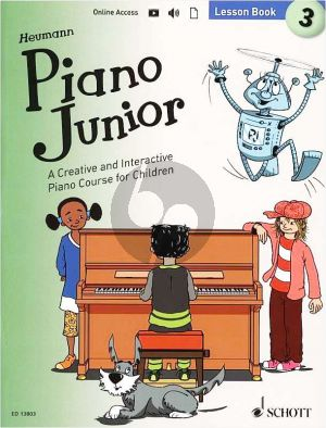 Heumann Piano Junior Lesson Book 3 (Book with Audio online)