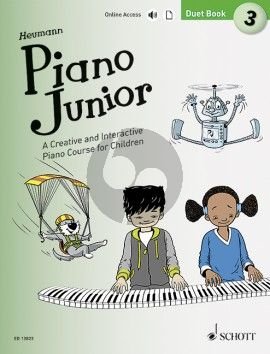Heumann Piano Junior: Duet Book 3 (A Creative and Interactive Piano Course for Children) (Book with Audio online)