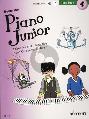 Heumann Piano Junior: Duet Book 4 (A Creative and Interactive Piano Course for Children) (Book with Audio online)