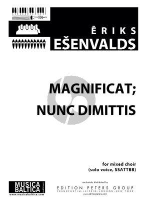 Esenvalds Magnificat and Nunc Dimittis Solo Voice-SSAATTBB