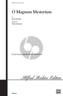 Handl O Magnum Mysterium SSAATTBB (edited by Vahe Aslanian)
