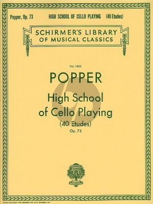 Popper High School of Cello Playing Op.73