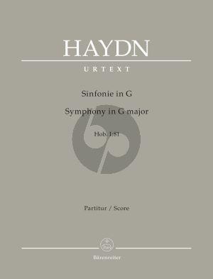 Haydn Symphony G-major Hob.I:81 Full Score (edited by Sonja Gerlach and Sterling E. Murray) (Barenreiter-Urtext)