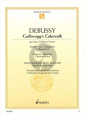 Debussy Golliwogg's Cakewalk (from Children's Corner) Double Bass and Piano (arr. Wolfgang Birtel)