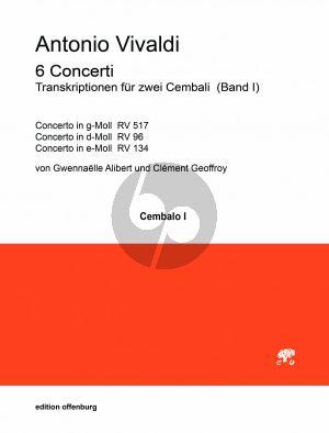 Vivaldi 6 Concerti Band 1 fur 2 Cembali (transcr. Gwennaelle Alibert und Clément Geoffroy