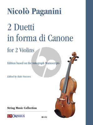 Paganini 2 Duetti in forma di Canone for 2 Violins (edited by Italo Vescovo)
