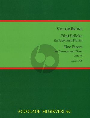Bruns 5 Stücke Op.40 Fagott-Klavier