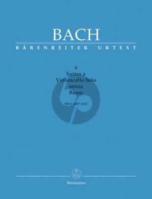 Bach 6 Suites BWV 1007 - 1012 a Violoncello Solo senza Basso (3 Volumes in a slipcase, with English and German text booklet) (edited by Douglas Woodfull-Harris / Berrina Schwemer)