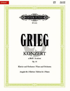 Grieg Konzert a-moll Op.16 Klavier-Orchester (Ausgabe 2 Klaviere) (Klaus Burmeister)