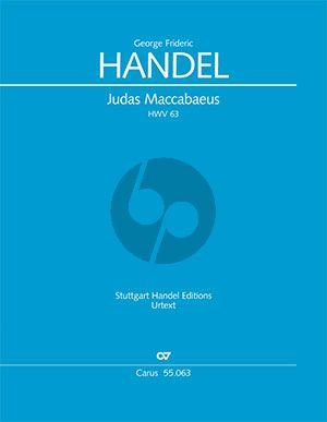Handel Judas Maccabaeus HWV 63 Soli-Chor-Orchester Partitur (Felix Loy)