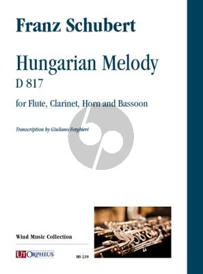 Schubert Hungarian Melody D.817 Flute, Clarinet, Horn and Bassoon (Score/Parts) (transcr. by Giuliano Forghieri)
