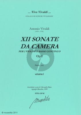 Vivaldi 12 Sonate da Camera Op.1 (Paris s.a.) include la celebre 'Folia' Nabestellen Laatst verkocht