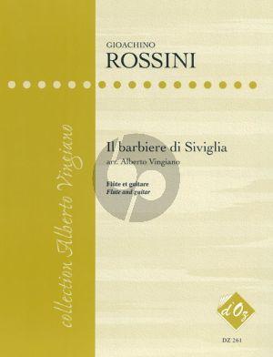 Rossini Il Barbiere de Siviglia (2 Books) arr. for Flute and Guitar by Alberto Vingiano