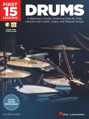 Arber First 15 Lessons – Drums (Book with Audio online)