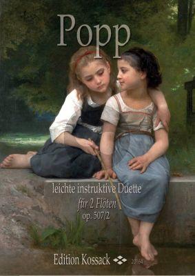 Popp Leichte Instruktive Duos Op. 507 Vol.2 2 Flöten (Partitur)
