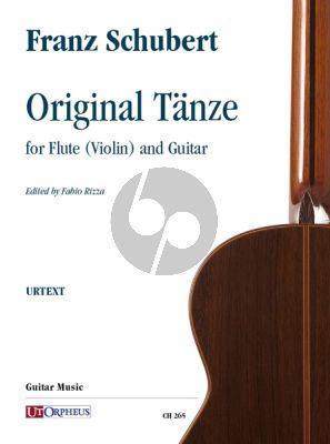 Schubert Original Tänze for Flute (Violin) and Guitar (Fabio Rizza)