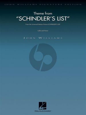 Williams Theme from Schindler's List Cello and Piano