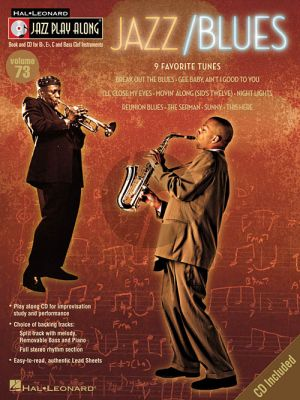 Jazz/Blues (Jazz Play-Along Series Vol.73) (all C.-Bb.-Eb. and Bass clef Instr.) (Bk-Cd)