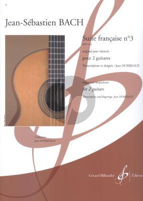 Bach Suite francaise No.3 BWV 814 2 Guitares (transcr. par Jean Horreaux)