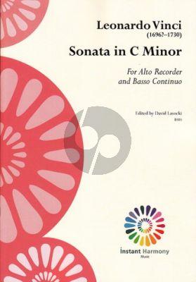 Vinci Sonata c-minor Treble Recorder and Bc (edited by David Lasocki)