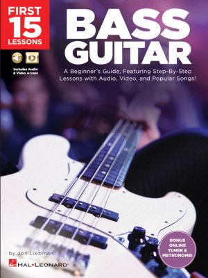 Liebman First 15 Lessons - Bass Guitar (Book with Audio online)