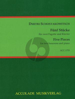 Shostakovich 5 Stücke für 2 Fagotte (Celli) und Klavier (arr. Shi Li)