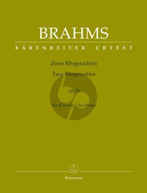 Brahms 2 Rhapsodien Op.79 für Klavier (Christian Köhn) (Barenreiter-Urtext)
