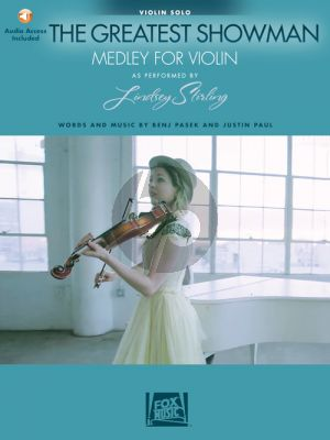 Pasek-Paul The Greatest Showman Medley for Violin (Book with Audio online) (arr. Lindsey Stirling)