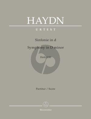 Joseph Haydn Symphony D-minor Hob.I:80 Full Score (edited by Sonja Gerlach and Sterling E. Murray) (Barenreiter-Urtext)