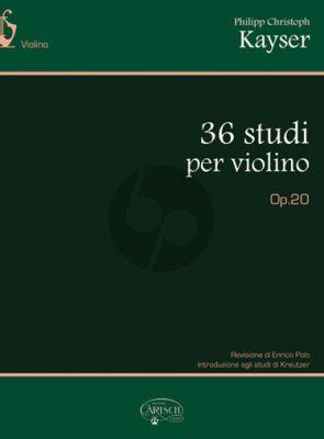 Kayser 36 Studi Op.20 Violino (Ennico Polo)