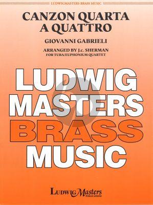 Gabrieli Canzona Quarta a Quattro Tuba/Euphonium Quartet (Arr. by J.C. Sherman)