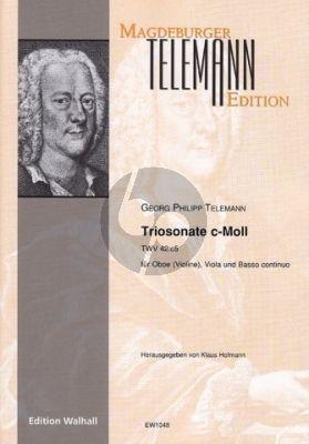 Telemann Triosonate c-Moll TWV 42:c5 für Oboe (Violine), Viola & B. c.