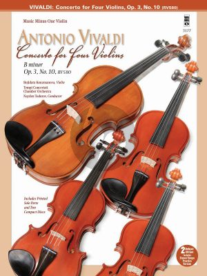 Vivaldi Concerto for Four Violins in B minor Op. 3 No.10 RV580 (BK-CD MMO)