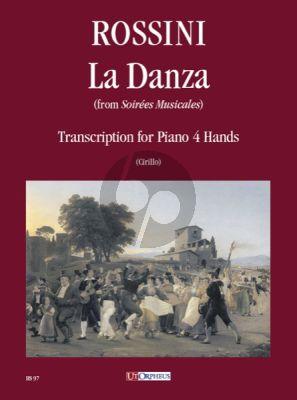 """Rossini La Danza for Piano 4 Hands (from """"Soirées Musicales"""") (transcr. by Adriano Cirillo)"""