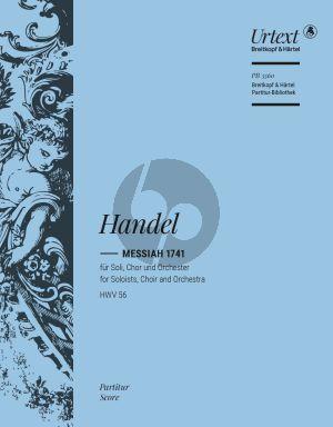 Handel Messiah 1741 HWV 56 Soli-Chor-Orchester (Partitur)