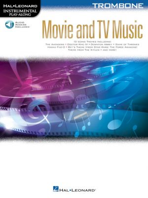 Movie and TV Music for Trombone (Instrumental Play-Along) (Book with Audio online)