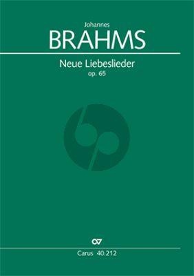 Brahms Neue Liebeslieder Walzer Op.65 SATB-Klavier 4 Hd (Partitur) (Michael Musgrave)