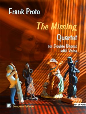 Proto The Missing for Double Bass Quartet with Voice (Set of Parts)