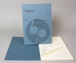 Notes 12 Staves - 50 Sheets - 100 Pages