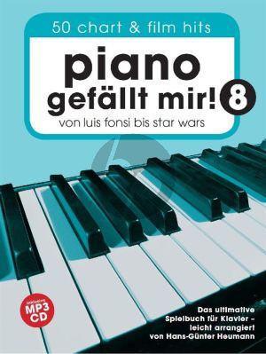 Piano gefällt mir! Band 8 50 Chart und Film Hits (Von Luis Fonsi bis Star Wars (Bk-Cd) (Hans-Günter Heumann)