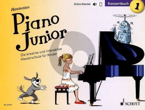 Heumann Piano Junior: Konzertbuch 1 (Die kreative und interaktive Klavierschule für Kinder) (Book with Audio online) (german edition)