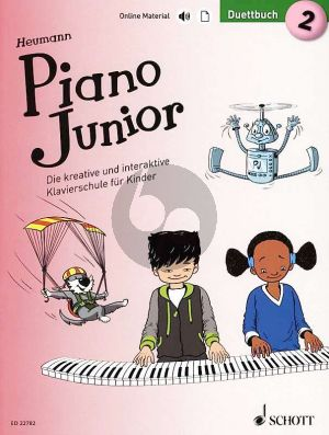 Heumann Piano Junior: Duettbuch 2 (Die kreative und interaktive Klavierschule für Kinder) (Book with Audio online) (german edition)