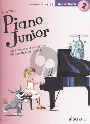 Heumann Piano Junior: Konzertbuch 2 (Die kreative und interaktive Klavierschule für Kinder) (Book with Audio online) (german edition)
