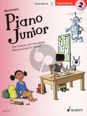 Heumann Piano Junior: Theoriebuch 2 (Die kreative und interaktive Klavierschule für Kinder) (Book with Audio online) (german edition)