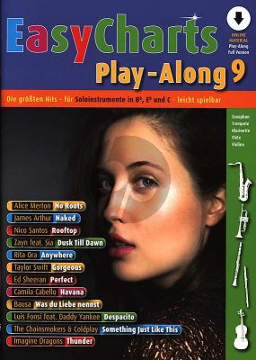 Easy Charts Play-Along Vol.9 (all C.-Bb.-Eb. Instr.) (Bk-Cd) (Uwe Bye)