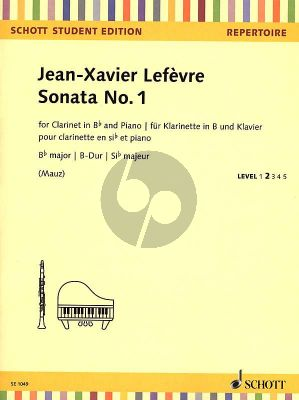 Lefevre Sonata No.1 B-flat major Clarinet-Piano (from: Méthode de Clarinette) (Rudolf Mauz)