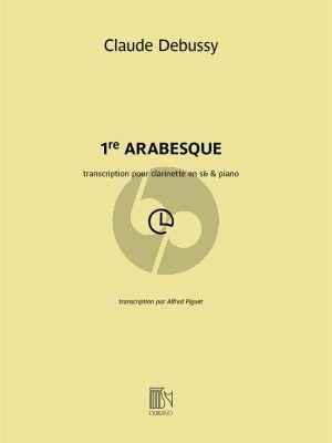 Debussy Arabesque No.1 Clarinette-Piano