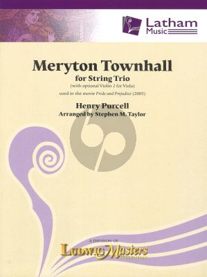 Henry Purcell Meryton Townhall for String Trio